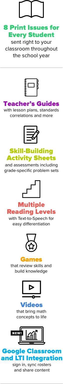 Scholastic DynaMath | The Math & Literacy Magazine for